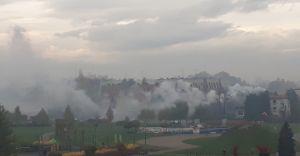 """Foto-dnia: """"zasłona dymna"""" na Osiedlu Północ"""