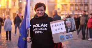 W Bielsku-Białej demonstrowano w  obronie obecności Polski w UE