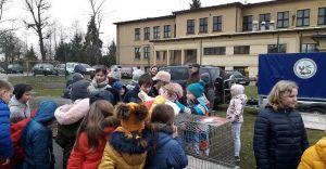 [ZDJĘCIA] Lekcje przyrody z żywymi zwierzętami w Szkole nr 3 w Ligocie