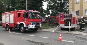 [ZDJĘCIA] Pożar w domu przy ulicy Kochanowskiego