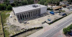 [ZDJECIA] Nowa siedziba miejskiej biblioteki - zdjęcia z drona