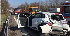 [ZDJĘCIA] Wypadek na skrzyżowaniu DK-1 z ul. Lipowską