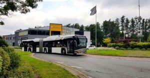 [ZDJĘCIA] Ruszyły testy przegubowego autobusu elektrycznego