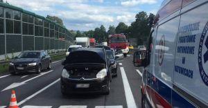 Wypadek na DK-1 w Goczałkowicach-Zdroju: 2 osoby ranne