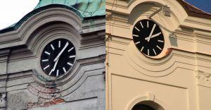 [ZDJĘCIA] Wieża kościoła pw. św. Katarzyny przed i po remoncie
