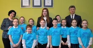 Młodzi Naukowcy odwiedzili burmistrza Mariana Błachuta