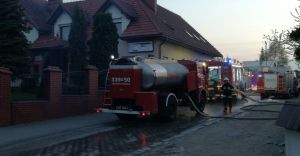 [ZDJĘCIA] Pożar kliniki weterynaryjnej przy Mazańcowickiej