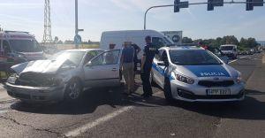 [FOTO] Zderzenie pojazdów na skrzyżowaniu DK-1 z Ligocką