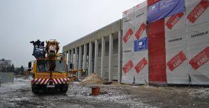 [ZDJĘCIA] Trwa budowa nowej siedziby dla miejskiej biblioteki
