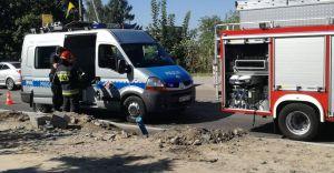 Wypadek na ulicy Traugutta. Motocyklista trafił do szpitala - foto