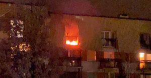 [FOTO] Osiedle Północ: pożar na balkonie mieszkania