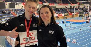Szymon Mikołajczak wicemistrzem Polski U18 w biegu na 300 m