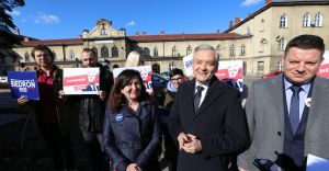[ZDJĘCIA, WIDEO] Robert Biedroń w Czechowicach-Dziedzicach